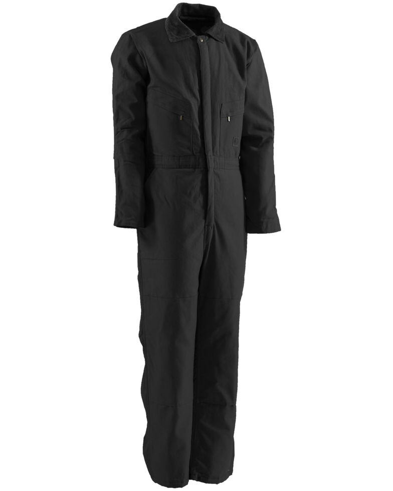 Berne Duck Deluxe Insulated Coveralls - Short Sizes, Black, hi-res