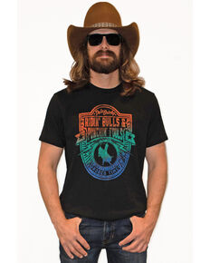 Dale Brisby Men's Ridin Bulls Punchin Fools Graphic T-Shirt , Black, hi-res