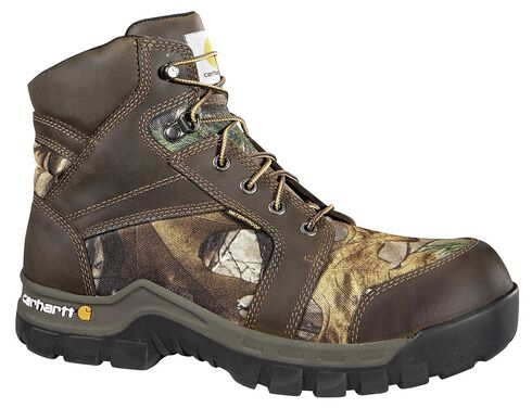 """Carhartt Waterproof Camo 6"""" Lace-Up Work Boots - Composition Toe, Camouflage, hi-res"""