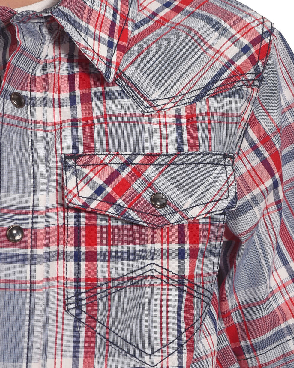 Cody James Boys' Rader Short Sleeve Shirt, Red, hi-res