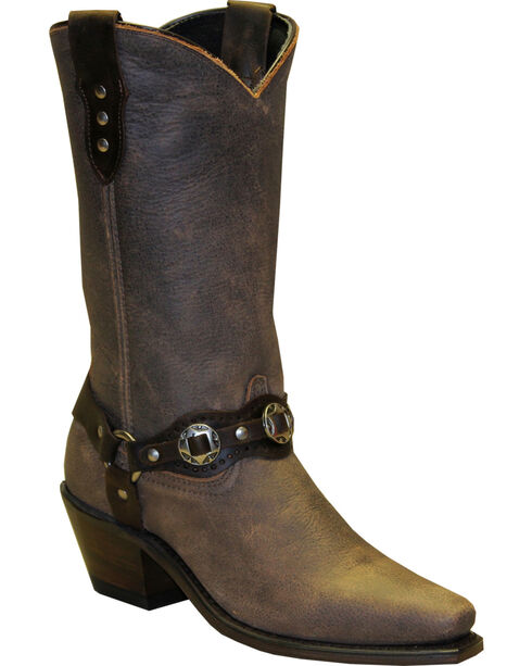 """Sage by Abilene Women's 11"""" Fashion Harness Western Boots - Snip Toe, Brown, hi-res"""
