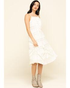 Coco + Jaimeson Women's Ivory Tie-Up Lace Dress , Ivory, hi-res