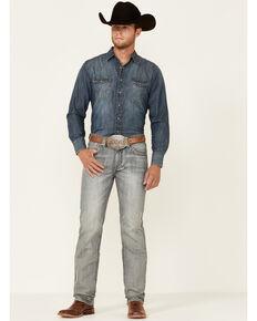 Rock & Roll Denim Men's Light Vintage Wash Revolver Slim Straight Jeans , Blue, hi-res