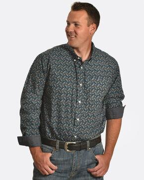 Cody James Men's Jonas Paisley Long Sleeve Shirt, Black, hi-res