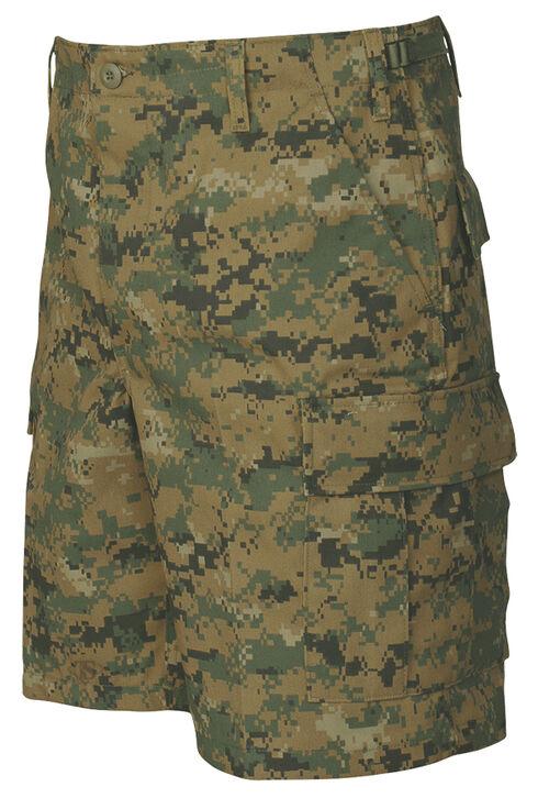 Tru-Spec Men's Woodland Digital Camo BDU Shorts , Camouflage, hi-res