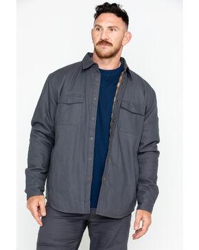 Hawx Men's Canvas Work Shirt Jacket , Charcoal, hi-res