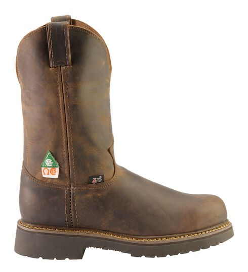 Justin Rugged Gaucho Pull-On Work Boots - Steel Toe, Tan, hi-res