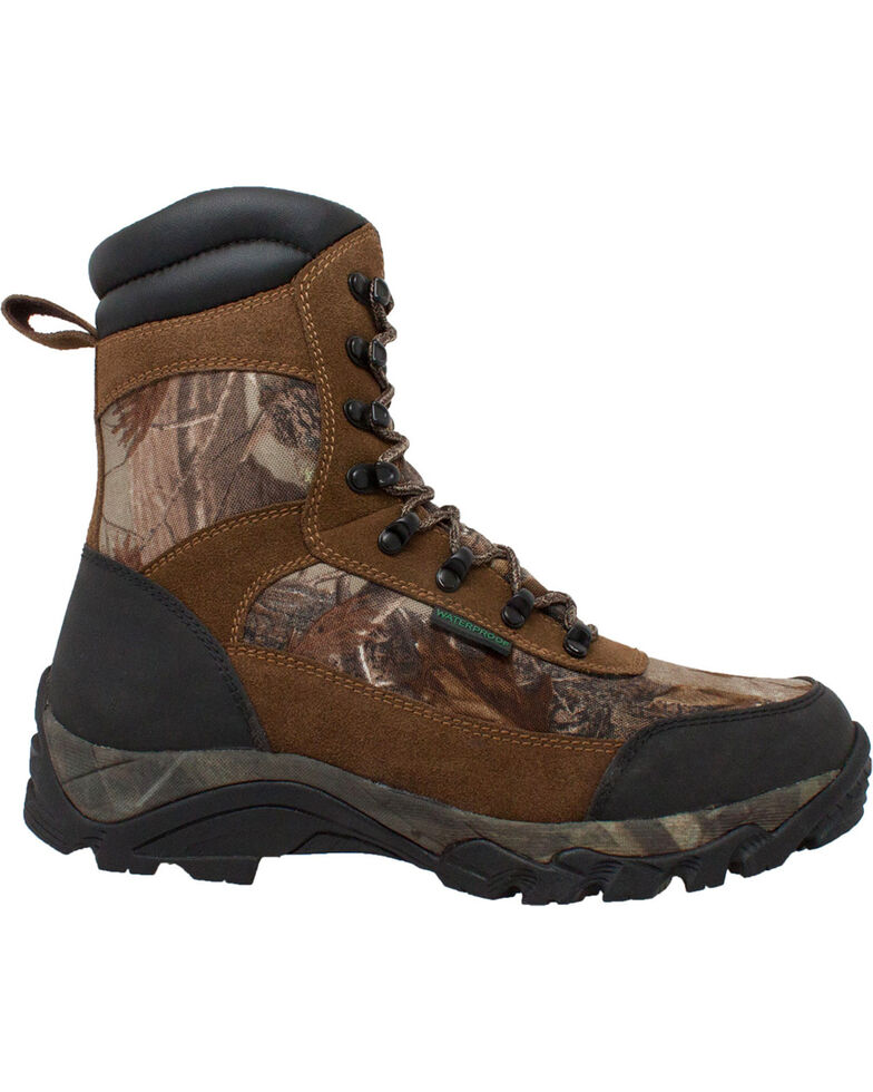 """Ad Tec Men's 10"""" Real Tree Camo Waterproof 400G Hunting Boots, Camouflage, hi-res"""