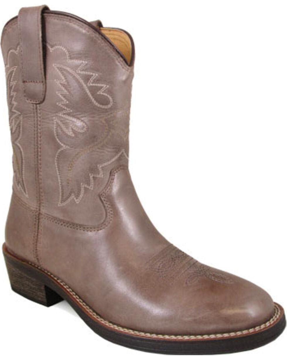 Smoky Mountain Women's Grey Grove Cowboy Boots - Round Toe , Grey, hi-res