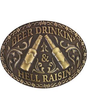 Cody James Men's Hell Raisin' Buckle , Bronze, hi-res