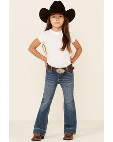 Wrangler Girls' Medium Wash Francine Stretch Trouser Jeans , Blue, hi-res