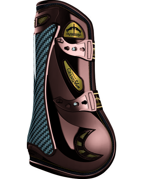 Veredus Carbon Gel Grand Slam Open Front Boots, Brown, hi-res