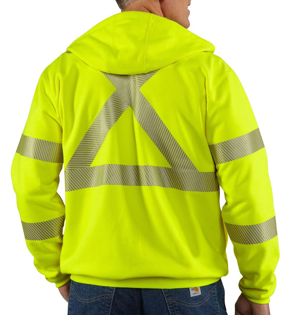 Carhartt Flame Resistant High-Visibility Zip-Front Jacket, Lime, hi-res