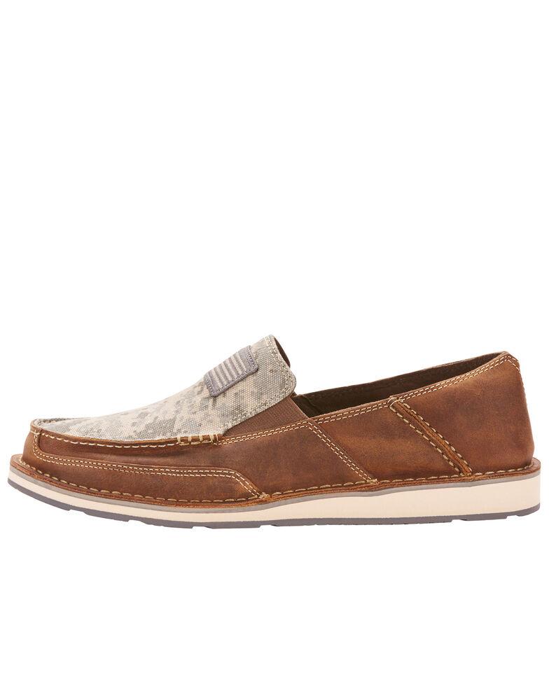 Ariat Men's Camo Patriot Cruiser Shoes - Moc Toe, Brown, hi-res