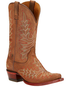 Ariat Brooklyn Cowgirl Boots - Snip Toe , Brown, hi-res