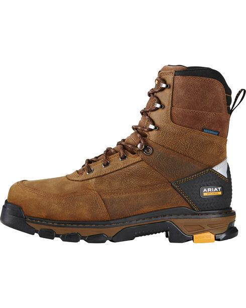 "Ariat Men's Brown Lace Up Waterproof 8"" Boots - Composite Toe , Brown, hi-res"