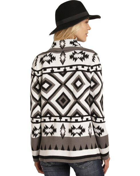 Panhandle Women's Aztec Pattern Cardigan, Multi, hi-res