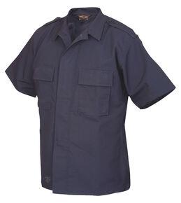 Tru-Spec Men's Navy Short Sleeve Tactical Shirt , Navy, hi-res