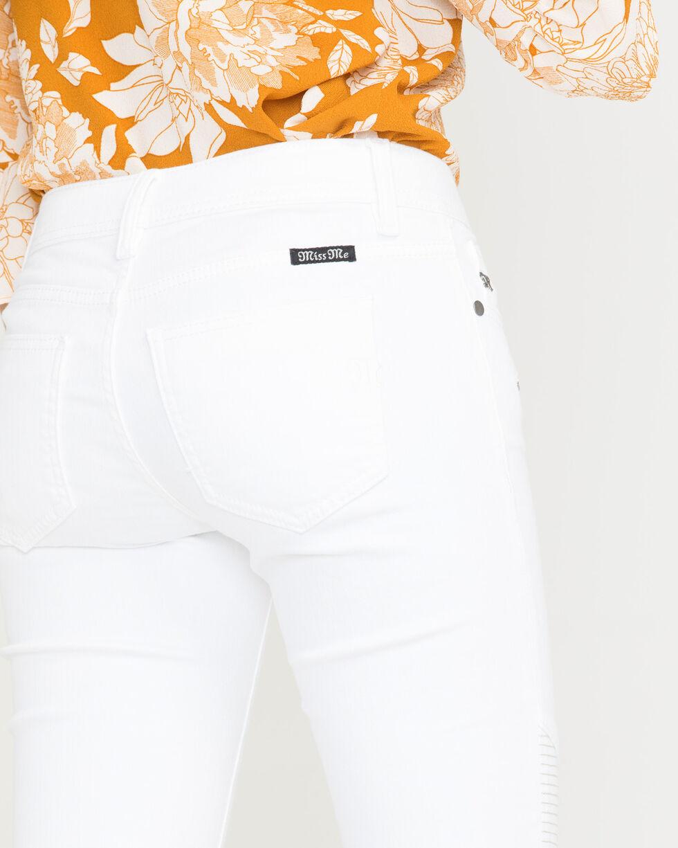 Miss Me Women's Moto Maven Mid-Rise Skinny Jeans, White, hi-res