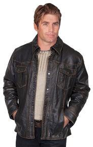 Scully Lamb Leather Jacket, Black, hi-res