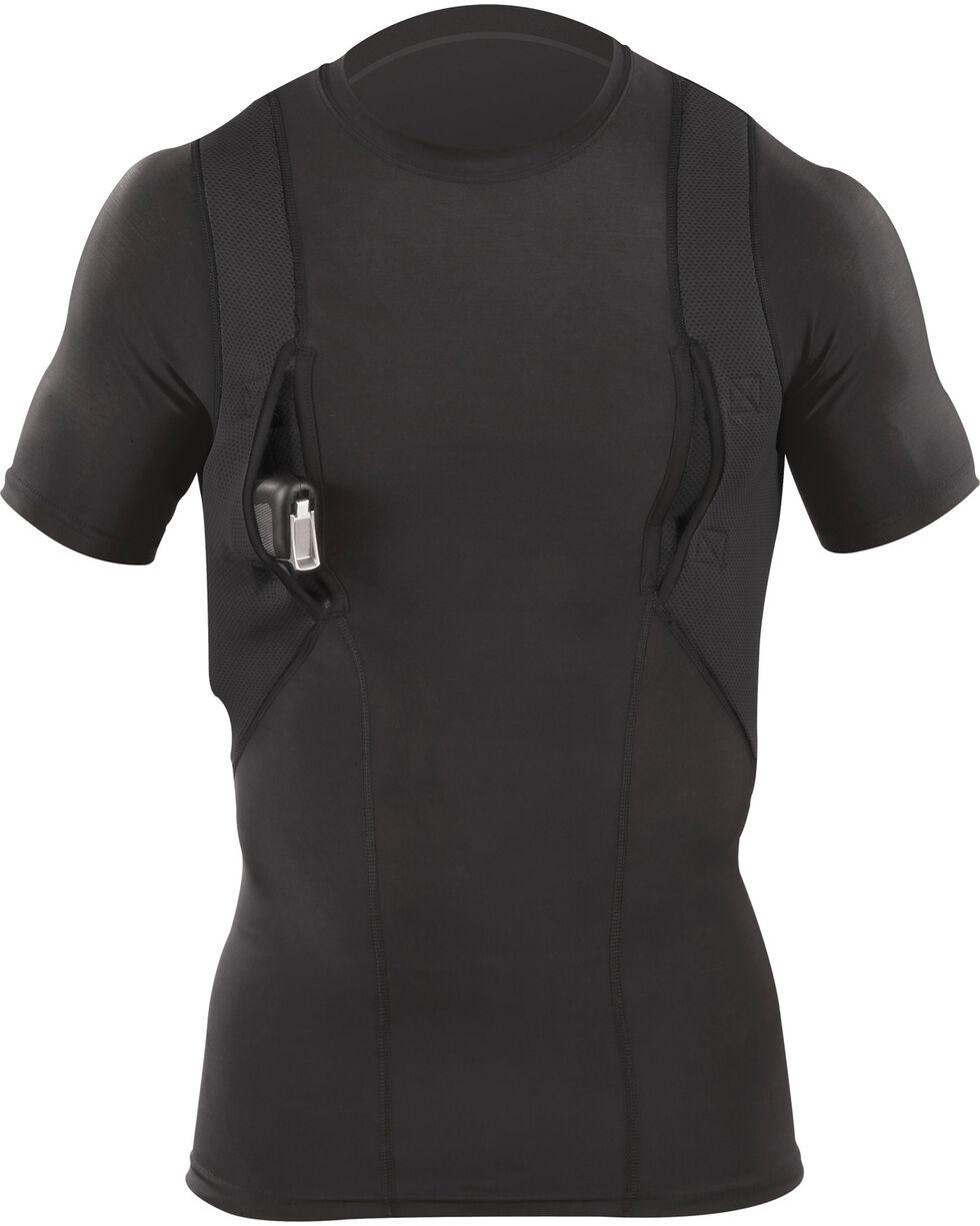 5.11 Tactical Crew Neck Holster Shirt, Black, hi-res