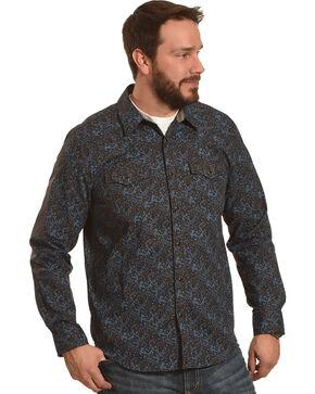 Cody James Men's Desert Willow Paisley Long Sleeve Shirt, Brown, hi-res
