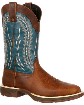 Durango Men's Rebel Western Boots - Square Toe, Brown, hi-res