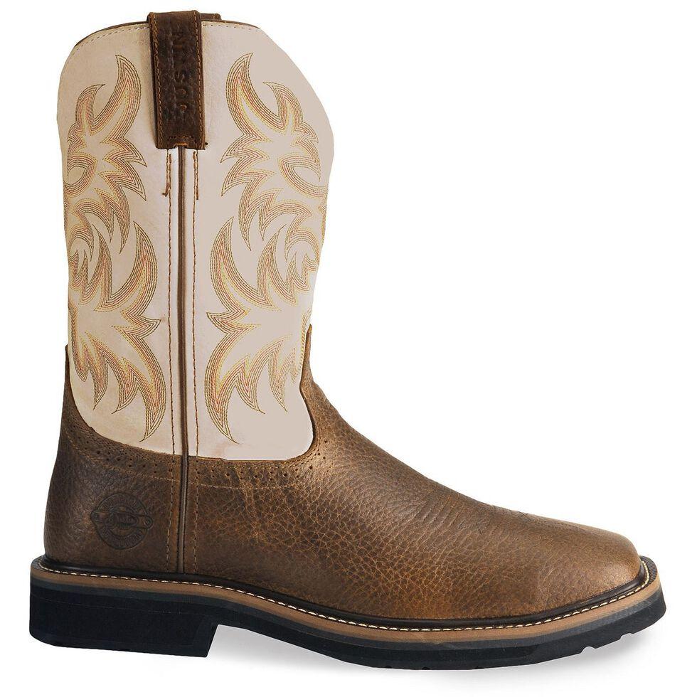 Justin Men's Stampede Driller Copper Work Boots - Soft Toe, Copper, hi-res