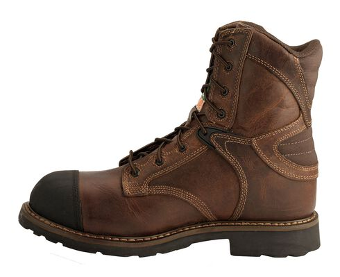 Justin Rugged Utah Work Boots - Composite Toe, Brown, hi-res