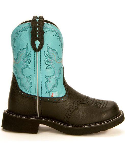 Justin Gypsy Aqua Cowgirl Boots, Black, hi-res