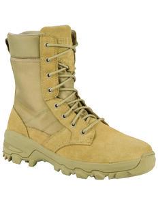 5.11 Tactical Men's Coyote Speed 3.0 Side Zip Boots - Round Toe, Tan, hi-res