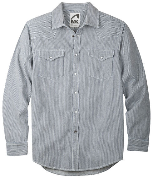Mountain Khakis Grey Original Mountain Denim Shirt, Grey, hi-res