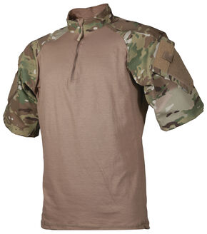 Tru-Spec Men's Tan and Camo TRU Combat 1/4 Zip Shirt, Multi, hi-res