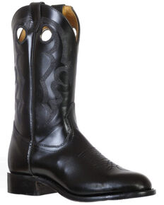 Boulet Men's Genesis Black Western Boots - Round Toe, Black, hi-res