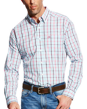 Ariat Men's Jonas Wrinkle Free Long Sleeve Button Down Shirt, White, hi-res