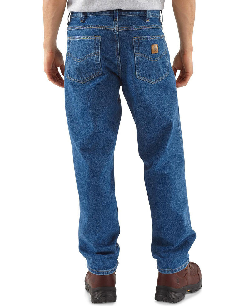 Carhartt Jeans - Relaxed Fit Work Jeans - Big & Tall, Stonewash, hi-res