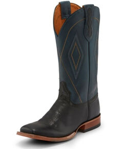 Tony Lama Men's Jasper Black Western Boots - Square Toe, Black, hi-res