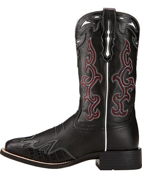 Ariat Sidekick Cowgirl Boots - Square Toe , Black, hi-res