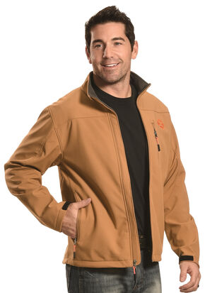 Hooey Men's Tan Softshell Jacket, Tan, hi-res