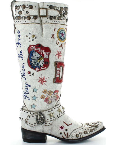 Old Gringo Double D Ranch Liberty & Justice Cowgirl Boots - Narrow Square Toe, White, hi-res