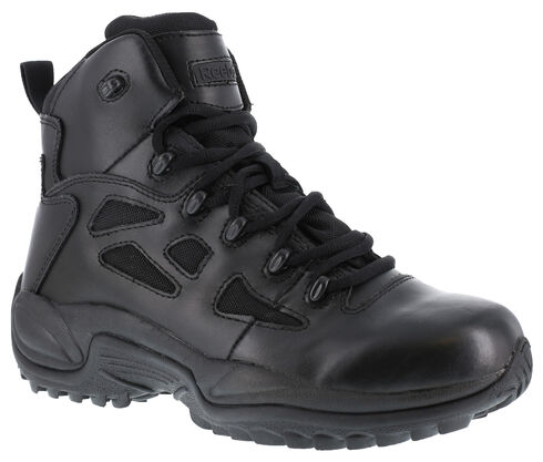 "Reebok Men's Stealth 6"" Lace-Up Work Boots, Black, hi-res"