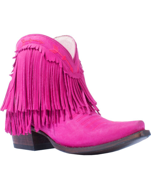 Junk Gypsy by Lane Women's Pink Spitfire Boots - Snip Toe , Pink, hi-res