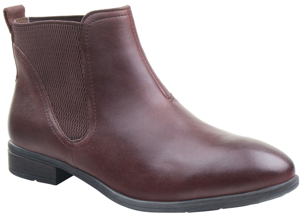 Eastland Women's Dark Walnut Brandi Chelsea Boots , Brown, hi-res