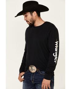 Wrangler Men's Black Logo Down Sleeve Graphic T-Shirt , Black, hi-res
