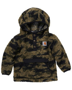 Carhartt Infant Boys' Camo Snap Front Hooded Pullover , Camouflage, hi-res