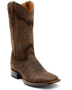 Moonshine Spirit Men's Brown Tully Nogal Leather Western Boot - Wide Square Toe , Brown, hi-res