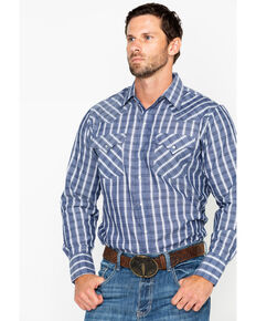 0d8bd47c542 Ely Cattleman Mens Textured Plaid Long Sleeve Western Shirt