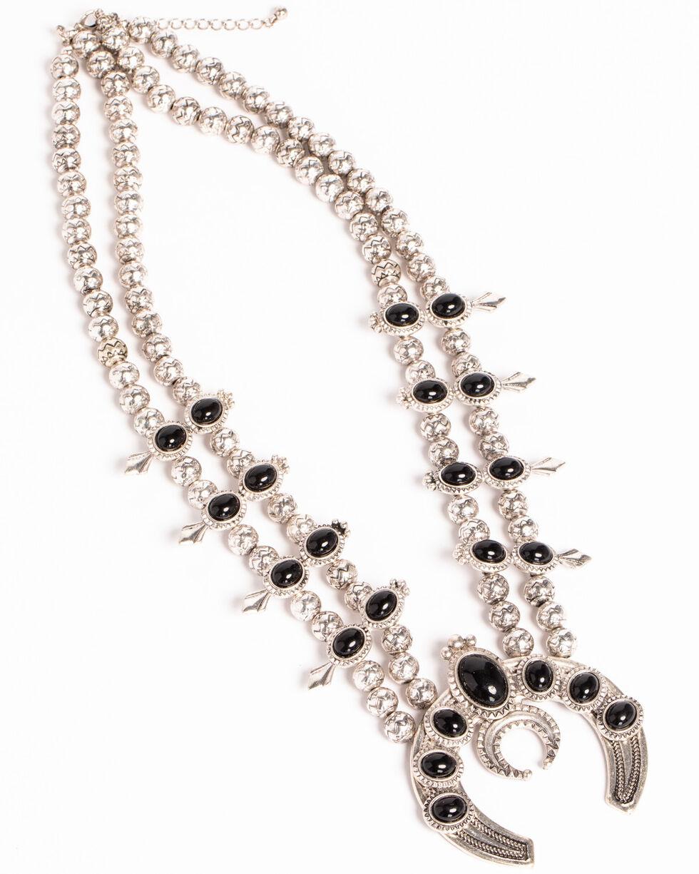 Shyanne Women's Squash Blossom Necklace, Silver, hi-res
