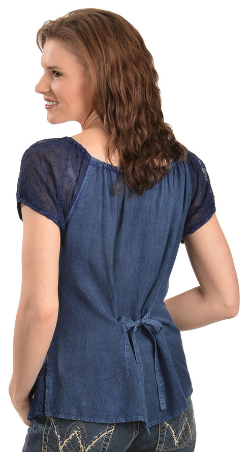 Scully Peasant Style Top, Blue, hi-res