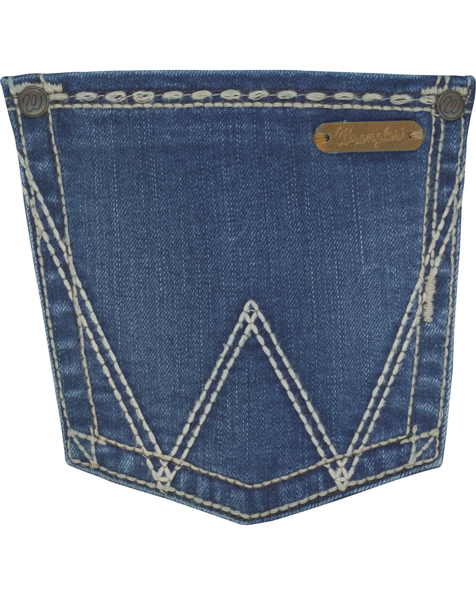 Wrangler Women's Faded Wash Retro Mae Jeans, Indigo, hi-res